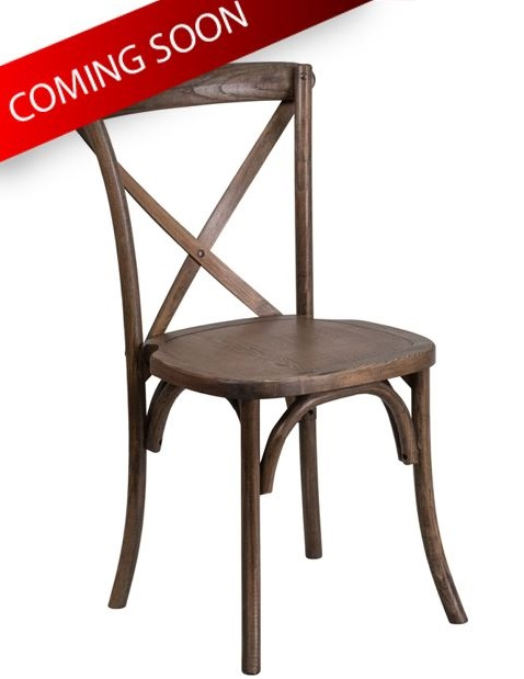 Natural Wood Crossback Chair